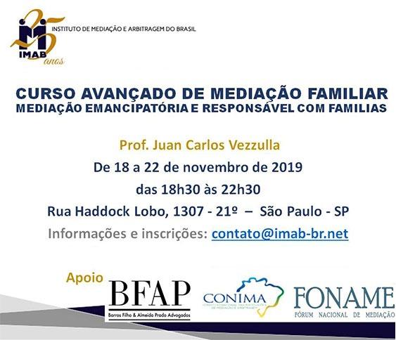 CURSO AVANÇADO DE MEDIAÇÃO FAMILIAR