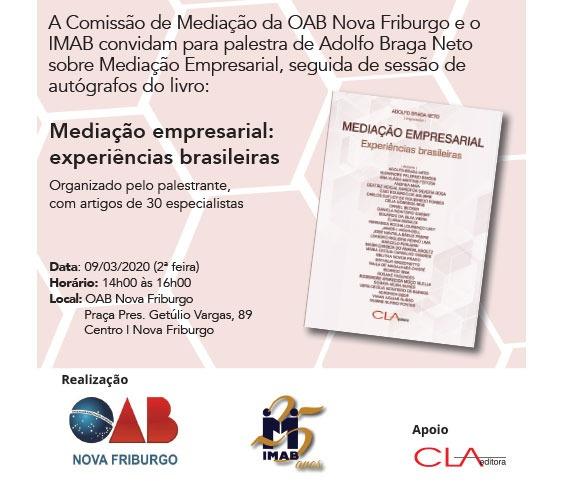 Lançamento do livro Mediação empresarial: experiências brasileiras - Nova Friburgo_00