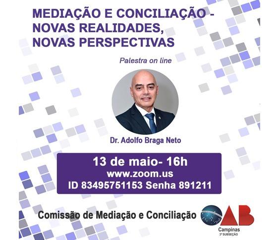 MEDIAÇÃO E CONCILIAÇÃO - NOVAS REALIDADES, NOVAS PERSPECTIVAS - PALESTRA ONLINE_00