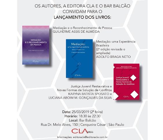 Lançamento dos Livros: Mediação e o Reconhecimento da Pessoa, Mediação uma Experiência Brasileira..._00